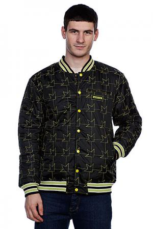Куртка бомбер  Team Jacket Black/Green Dekline. Цвет: черный