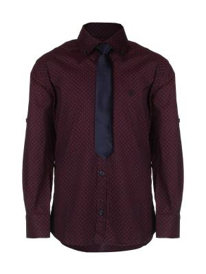 Рубашка ROMA sportswear. Цвет: бордовый