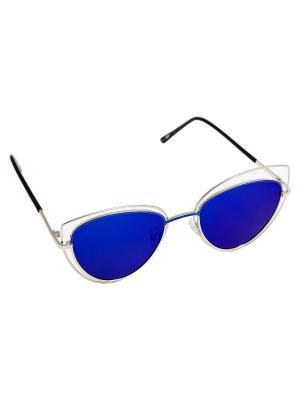 Солнцезащитные очки Kameo-bis. Цвет: серебристый, синий