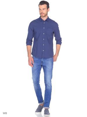 Рубашка 1PKT Wrangler. Цвет: синий