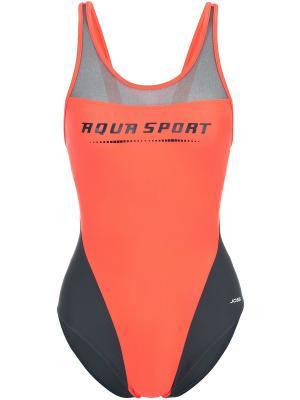 Слитный купальник JOSS. Цвет: оранжевый, серый