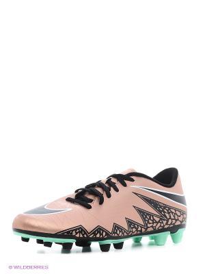 Бутсы HYPERVENOM PHADE II FG Nike. Цвет: коричневый, черный