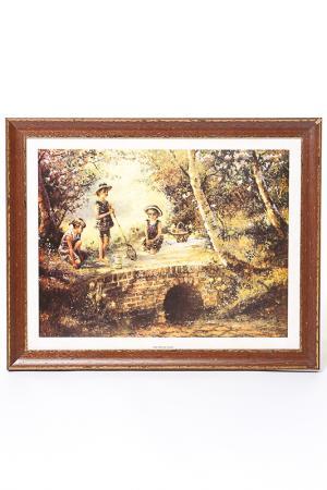 Постер Дети на прогулке F.A.L. Цвет: коричневый