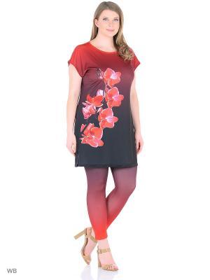Костюм, модель Орхидея (туника+капри) Dorothy's Home. Цвет: красный
