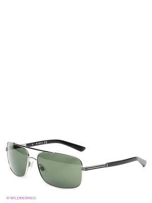 Солнцезащитные очки RE 363S 16N Replay. Цвет: серо-зеленый, серебристый