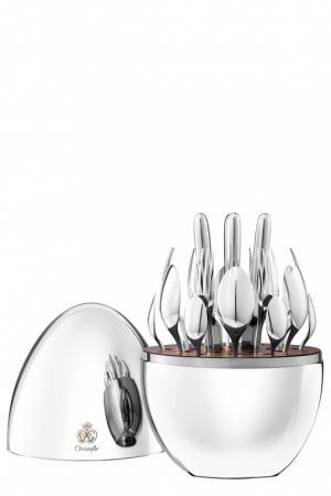 Набор столовых приборов Mood из 24 предметов Christofle. Цвет: серебряный