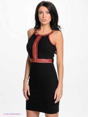Платье ZARGA. Цвет: черный, бордовый