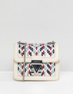 Valentino by Mario Маленькая сумка через плечо. Цвет: белый