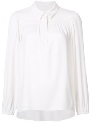 Блузка со складками Co. Цвет: белый