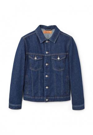 Куртка джинсовая Mango Man. Цвет: синий