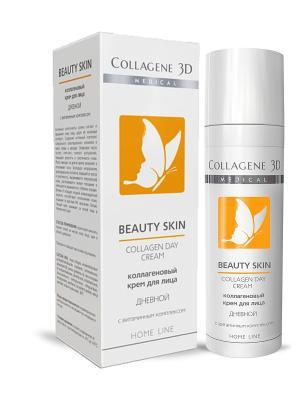 Крем для лица BEAUTY SKIN Дневной 30 мл Medical Collagene 3D. Цвет: белый, оранжевый