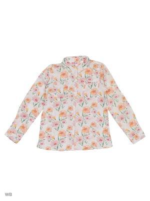 Рубашка Modis. Цвет: белый, фиолетовый, коралловый