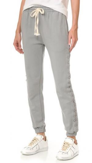 Спортивные брюки со шнуровкой pushBUTTON. Цвет: голубой
