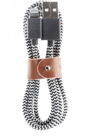 USB кабель Lightning Belt Cable Native Union. Цвет: черно-белый