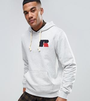 Russell Athletic Худи с шенильным логотипом. Цвет: серый