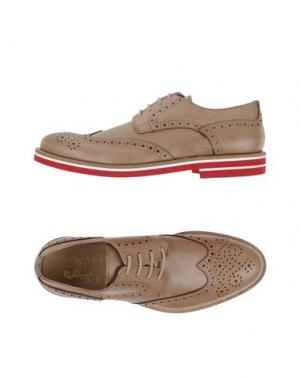 Обувь на шнурках VIA DEI CALZAIUOLI. Цвет: хаки