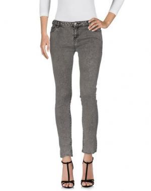 Джинсовые брюки EACH X OTHER. Цвет: серый