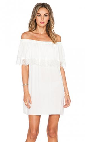 Кружевное платье senorita Otis & Maclain. Цвет: белый