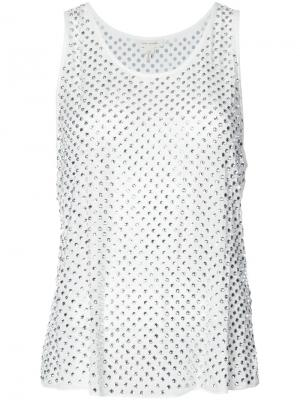 Декорированная блузка с кристаллами без рукавов Marc Jacobs. Цвет: белый