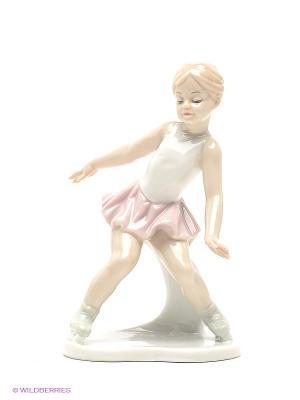 Статуэтка Фигуристка Pavone. Цвет: светло-бежевый, белый, бледно-розовый
