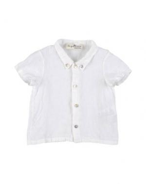 Рубашка с короткими рукавами LE PETIT COCO. Цвет: слоновая кость