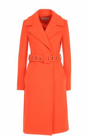 Шерстяное пальто с карманами и поясом Emilio Pucci. Цвет: оранжевый