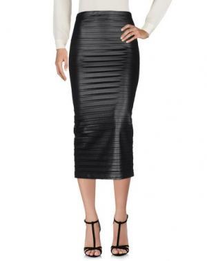 Длинная юбка PAOLO ERRICO. Цвет: черный
