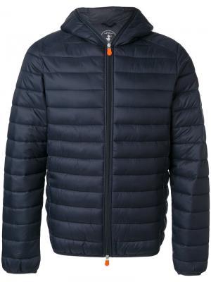 Стеганая куртка с капюшоном Save The Duck. Цвет: синий