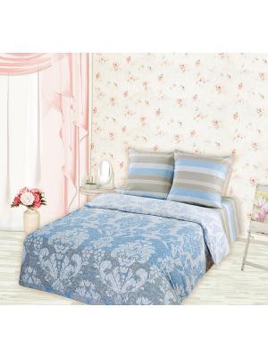 Постельное белье Romantic Collection. Цвет: синий, белый