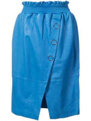 Асимметричная юбка Designers Remix. Цвет: синий
