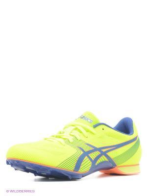 Спортивная обувь HYPER MD 6 ASICS. Цвет: желтый, синий