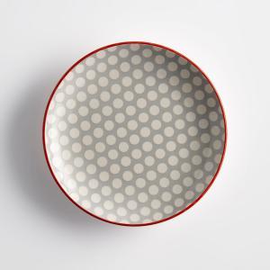 Комплект из 4 десертных тарелок, DOTKA La Redoute Interieurs. Цвет: в горошек розовый/белый,в горошек серый/белый