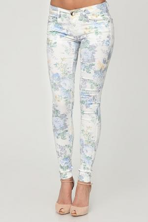 Брюки Joins. Цвет: white with flower print