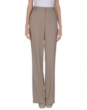 Повседневные брюки JO NO FUI. Цвет: голубиный серый