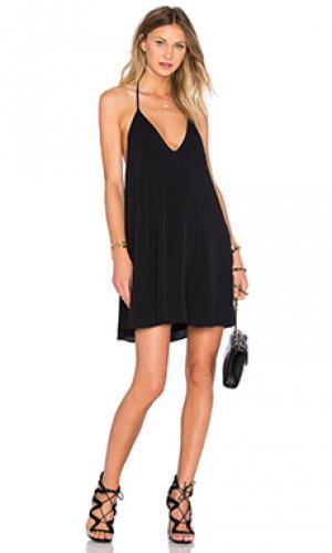 Мини платье swinging volume NBD. Цвет: черный