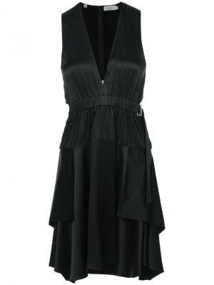 Elasticated waist dress A.L.C.. Цвет: чёрный