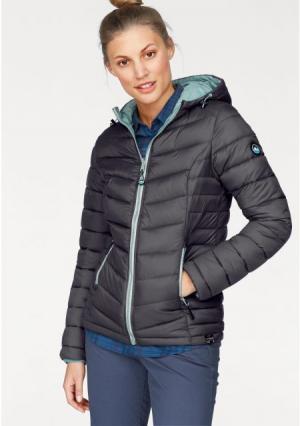 Стеганая куртка POLARINO. Цвет: дымчато-синий, темно-серый