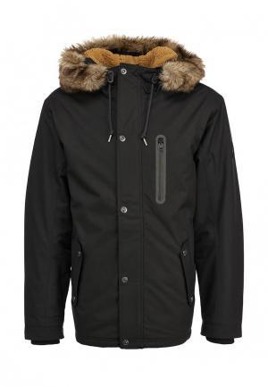 Куртка утепленная Quiksilver. Цвет: черный