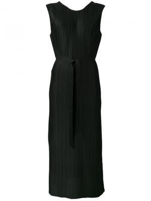 Плиссированное платье без рукавов Christian Wijnants. Цвет: чёрный