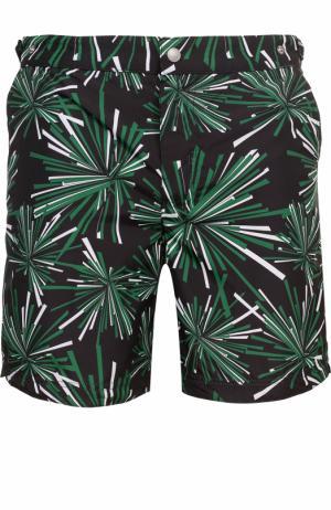 Плавки-шорты с принтом Robinson Les Bains. Цвет: зеленый