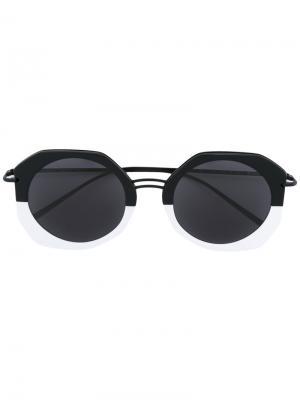 Солнцезащитные очки Donna Kyme. Цвет: чёрный