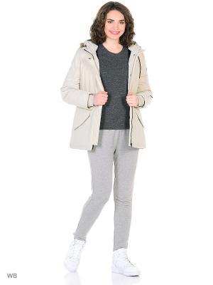 Куртка жен. W SPRTSWR PRK Adidas. Цвет: бежевый