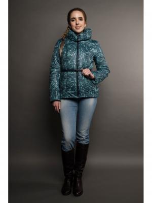 Куртка Ирис Versia. Цвет: синий, светло-зеленый