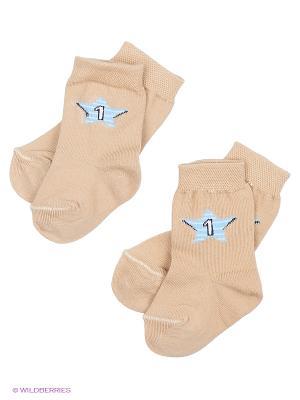 Носки, 2 пары Malerba. Цвет: бежевый