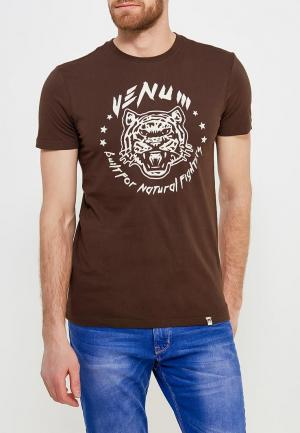 Футболка Venum. Цвет: коричневый