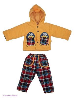 Комплект Happy Bear. Цвет: желтый, красный