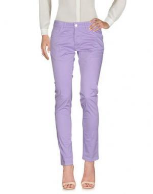 Повседневные брюки ENTRE AMIS. Цвет: сиреневый