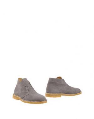 Полусапоги и высокие ботинки ALBERTO MORETTI. Цвет: серый