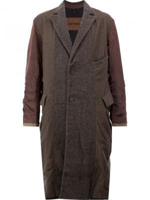 Двустороннее пальто Ziggy Chen. Цвет: многоцветный