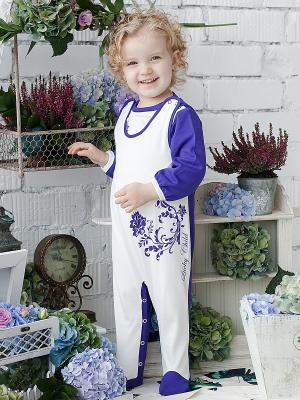 Ползунки Lucky Child. Цвет: фиолетовый, белый
